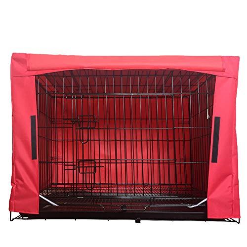 ChengYi CYCWZ01 Hundekäfig-Abdeckung, wasserfest, strapazierfähig, Segeltuch, Polyestergemisch