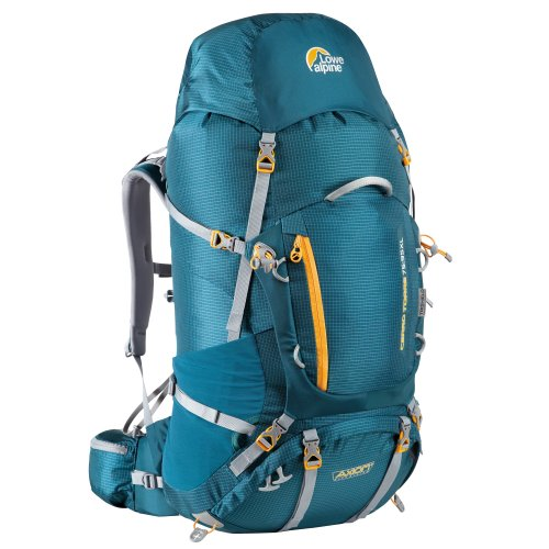 Lowe Alpine Herren Rucksack Cerro Torre, Bondi Blue/Amber, 75 + 20 Liter, FBP-58 (Rucksack Alpine Herren)
