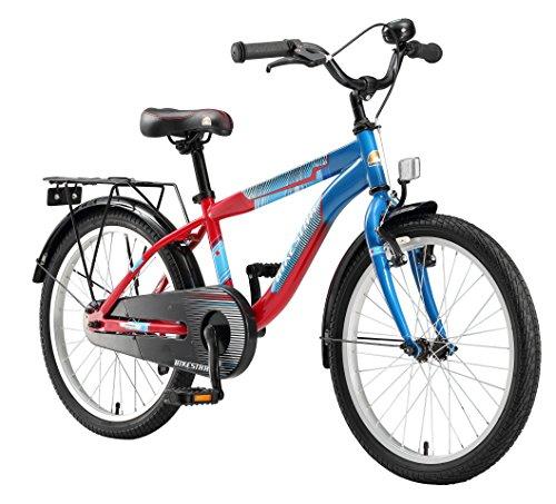 Bikestar Premium Sicherheits Kinderfahrrad 20 Zoll für Jungen ab 6-7 Jahre ★ 20er Kinderrad Modern ★ Fahrrad für Kinder Blau & Rot