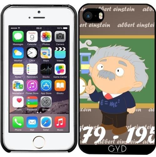 Leder Flip Case Tasche Hülle für Apple iPhone 6/6S - Albert Einstein by Los dibujos de Alapapaju Starre Kunststoff