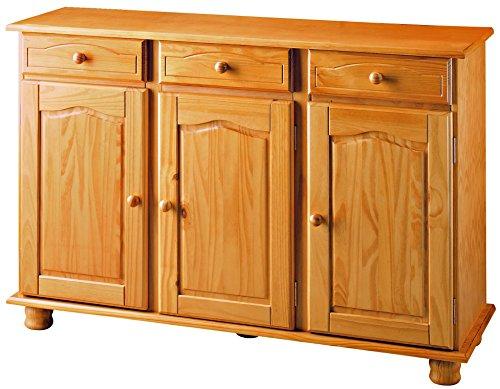 Dogar Altea Buffet avec tiroirs 86x130x42 cm Miel