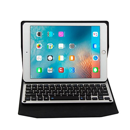 Preisvergleich Produktbild Kaiki Ultra Aluminum Bluetooth Keyboard with Leather Case Cover For iPad Pro 9.7inch iPad Air / Air2