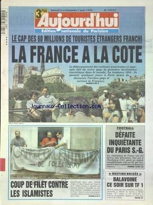 Hommage A Balavoine - AUJOURD'HUI [No 15527] du 06/08/1994 - LE