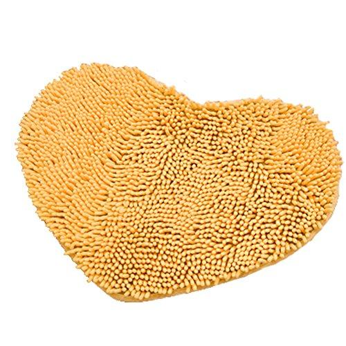 Rabatt Geflochtene Teppiche (Super Soft Chenille Herzförmige Schlafzimmer Teppich Tür Matte Teppich Gelb)
