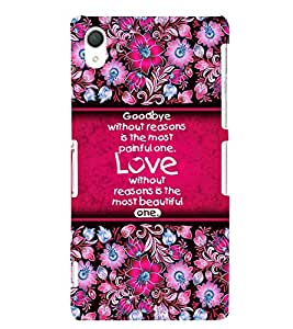 Love Quote 3D Hard Polycarbonate Designer Back Case Cover for Sony Xperia Z2 :: Sony Xperia Z2 L50W D6502 D6503