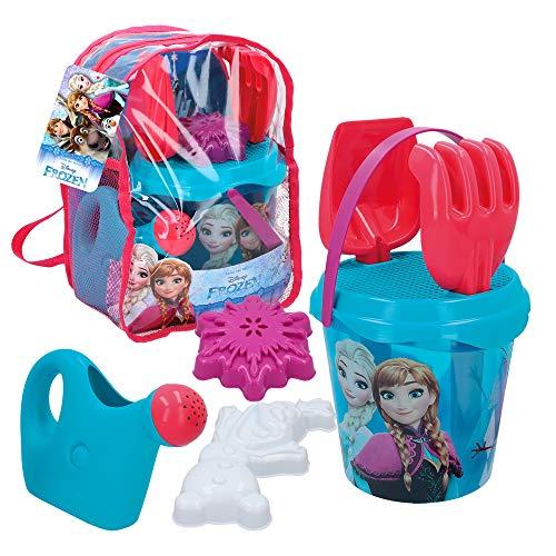 Disney- Mochila playa Frozen Cubo 18 cm con accesorios,...