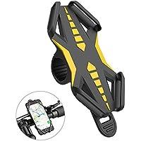 Soporte de bicicleta Soporte para teléfono, iRainy silicona bicicleta teléfono soporte fit para iphone 7 plus 6 plus, Samsung S8 S7 y otros 4 – 6 inch Smartphones, compatible con carretera o bicicletas de montaña y motocicletas o motos