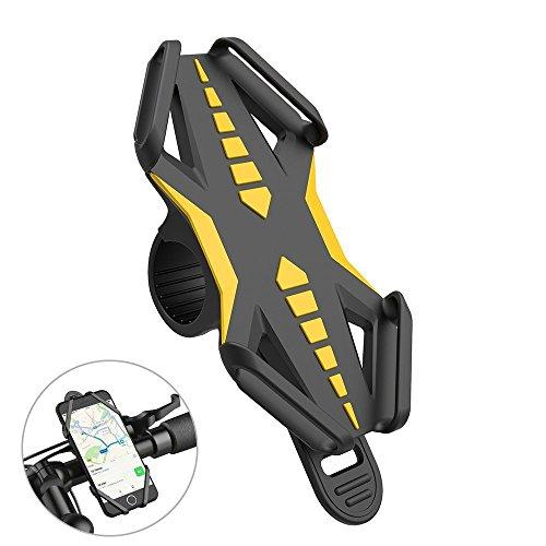 Handyhalterung Fahrrad, iRainy Universal Silikon fahrrad halterung handy für Smartphone mit 4-6 Inch Screen wie iPhone 7Plus/6 s plus 6-/6Plus Samsung Galaxy S8/S7, kompatibel mit Straßen-oder Mountainbiken und Motorrädern und Scooters (70 D-gps)