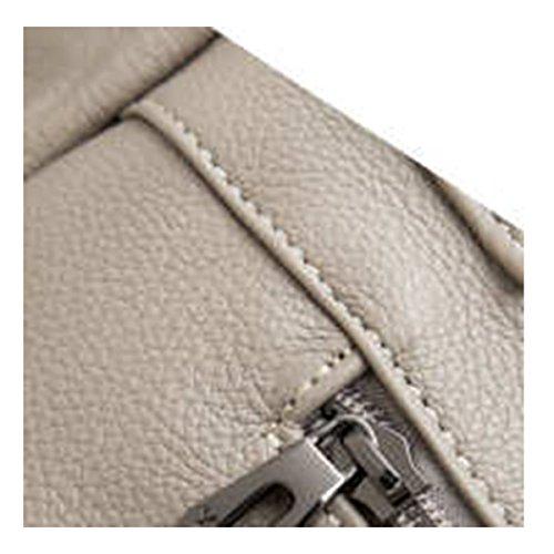 WU Zhi Lady In Pelle Big Bag Tracolla Messenger Bag Grey
