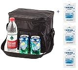 Bolsa térmica con 3paquetes aislados para de hielo de 10 a24horas, para el aire libre, negro