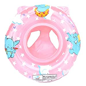 coscosx child inflatable swimming toddler safety aid float seat ring pink am. Black Bedroom Furniture Sets. Home Design Ideas