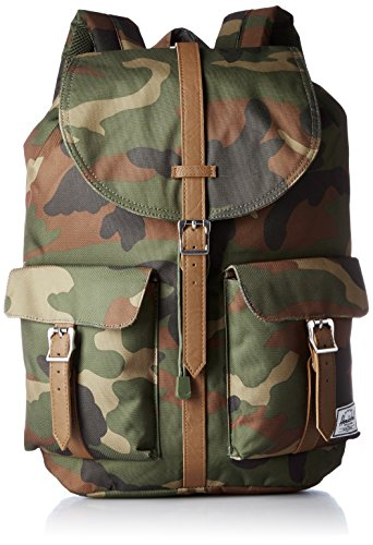 Herschel Supply Company SS16 Casual Tagesrucksack, Woodland Camo/Tan Synthetic Leather (grün) - 10233-00032-OS