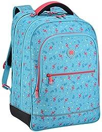DELSEY PARIS Back To School 2017 Sac à Dos Enfant, 45 cm, 30 L, Turquoise Flamands Roses