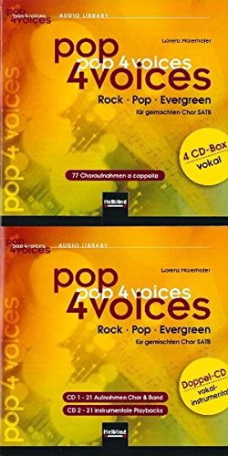 pop 4 voices: Rock - Pop - Evergreen. CD-Gesamtpaket (4er CD-Box vokal und Doppel-CD vokal-instrumental) -