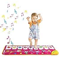 Zmoon Alfombra de Piano, Alfombra de Teclado Táctil Musical Touch Juego Musical para Bebé