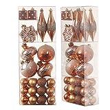 Valery Madelyn 40tlg.4-14cm Modische Rosegold bruchsicher Weihnachtskugeln Weihnachtsbaumschmuck Dekorationen