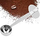 Mestolo per Caffè in Acciaio Inossidabile, Cucchiaino per Manomissione Misura Caffè Espresso Duplice Scopo Palette da Caffè Accessori per Macchine Caffè per Misurazione Caffè Polvere Proteica Spezie