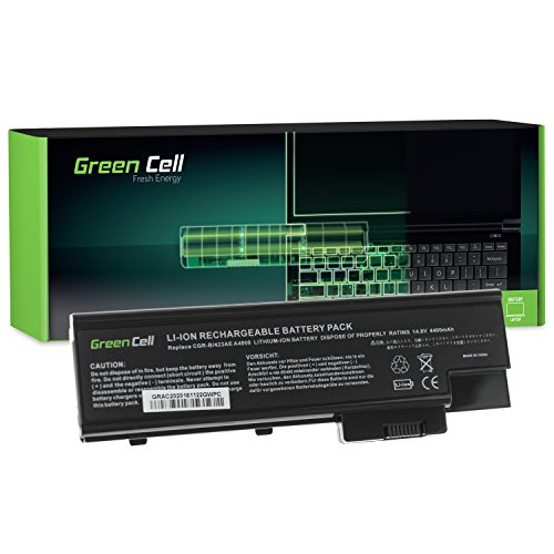 Green Cell® Standard Serie Laptop Akku für Acer Aspire 9424WSMi (8 Zellen 4400mAh 14.8V Schwarz)