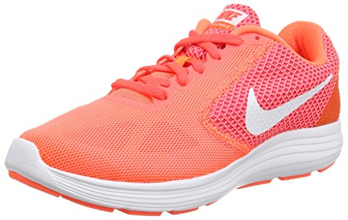 Nike Revolution 3, Damen Laufschuhe, Orange (Hyper Orange/White-Atomic Pink-Bright), 41 EU (7 Damen UK)