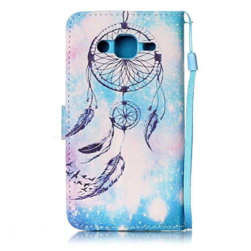 BoxTii® - Custodia a portafoglio in pelle + pellicola protezione schermo in vetro temperato, con cover posteriore, per Apple iPhone 6/6S, modello colorato con cinturino da polso e scomparti per carte  #7 Feather