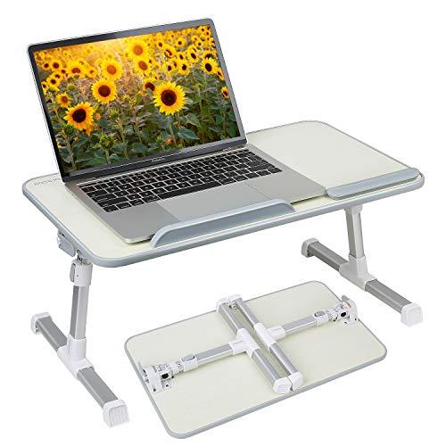 Wooden-Life Multifunktionstisch Tragbar Höhenverstellbar und Winkelverstellbar Laptoptisch Laptopständer Betttisch NoteBooktisch Bücherständer für Sofa, Bett, Terrasse, Balkon, Garten usw