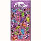 Generische Duvet Cover einzelne 'Butterflies' Design + glücklich Schmetterlinge glitzern Aufkleber -