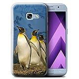 Stuff4 Gel TPU Hülle / Case für Samsung Galaxy A3 (2017) / König Pinguine Muster / Arktis Tiere Kollektion