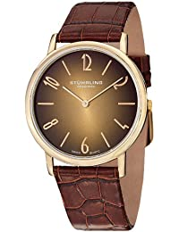 Stuhrling Original 140A.02 - Reloj de pulsera hombre, piel, color marrón