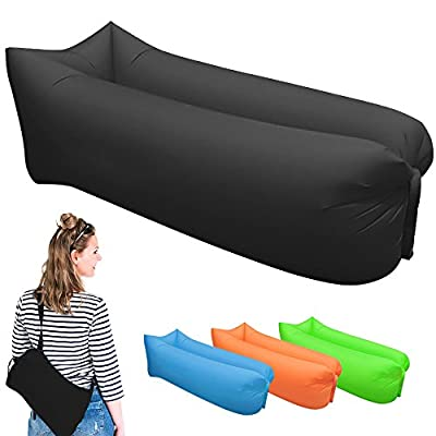 Inflatable Lounger - Portable Air Beds Sleeping Chair Sofa Couch Ideal For Lounging, Camping, Beach, Fishing, Chilling, Parties, Swimming Pools, Travelling, Backyard, Park produced by YTYI - quick delivery from UK.