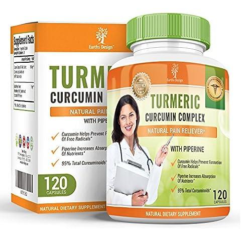 Curcumina di Turmerico biologico con estratto di pepe nero, anti-infiammatorio