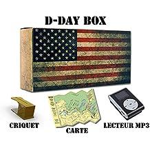 D-Day Box Audioguide plages du Débarquement (Utah, Omaha, Gold, Juno, Sword) - inclus : 3h audio + mp3 + eBook + criquet + carte (modèle drapeau US)