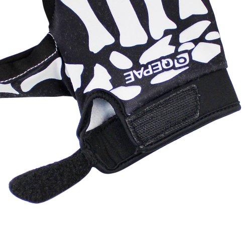 Lerway MTB Fahrrad Voll Finger warmen Radsport Fahrrad Handschuhe Herren Motorrad Vollfingerhandschuhe Herren Fahrradhandschuhe (Schwarz-L) - 4