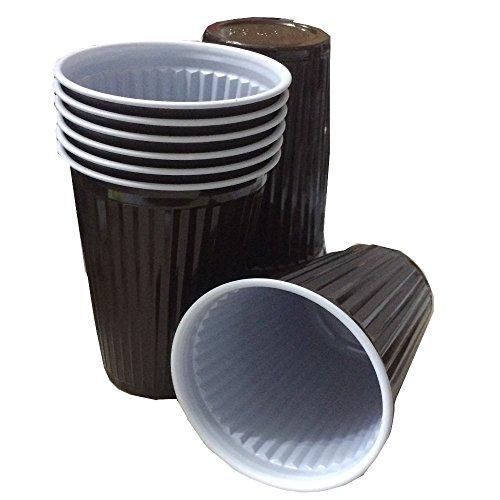 Trendsky® 1000x Premium Braun Thermobecher 180ml Plastikbecher Cups 0,18l Automatenbecher