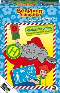 Schmidt Spiele - 40443 Benjamín el Elefante, el tráfico de Domino Importado de Alemania
