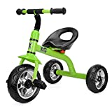 Xootz Tricycle for Kids, Trike Easy Clip and Portable - Green