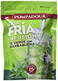 Pompadour Té Verde Hierba Buena Frío - 18 bolsitas - [pack de 4]