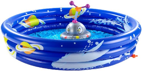 infactory Kinderplanschbecken: Erlebnis-Planschbecken mit rotierendem Wassersprinkler (Schwimmbecken)