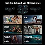 sakobs Muskelstimulator Bauchmuskeltrainer 2018 Muskelstimulation EMS Trainingsgerät mit 60 Stunden Akkulaufzeit/10 Intensitäten Muskeltraining zur Fettverbrennung und Muskelaufbau - 4