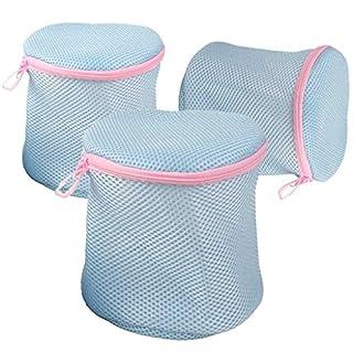 Alohha Waschbeutel für Wäsche, BH, Strumpf, Unterwäsche, Socken mit feinem Mesh Zippered Set von 3