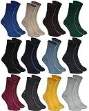 12 pares de calcetines elegantes, rayas, de algodón para los hombres, producidos en Europa, muchos colores: negro, granate, grafito, marrón, verde, beige, rojo, tallas 39 40 41