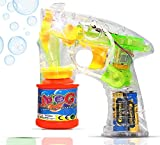 SillyMe Automatic Transparent Bubble Gun for Kids with Solution Bottle- Complete Pack Ready