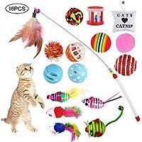 Giocattoli per Gatti, Gatto Giocattoli Interattivi Gioco per Gattino Kitten Indoor, 16 Pezzi