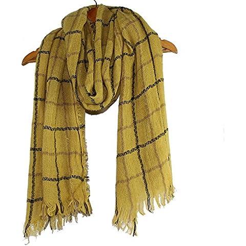 BAI-Cashmere sciarpa tralicciati femmina fluffy scialle la Wai Shing autunno