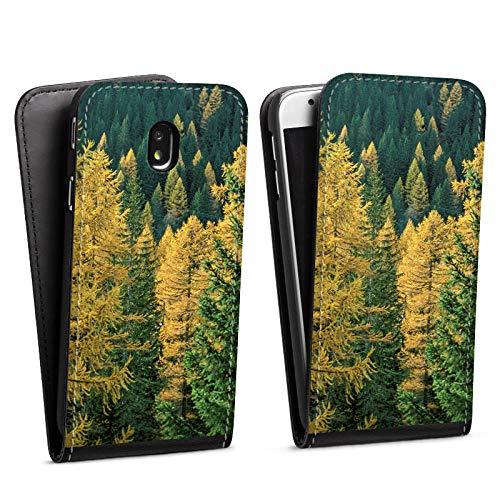 DeinDesign Flip Case kompatibel mit Samsung Galaxy J7 2017 Tasche Hülle Forest Wald Baeume