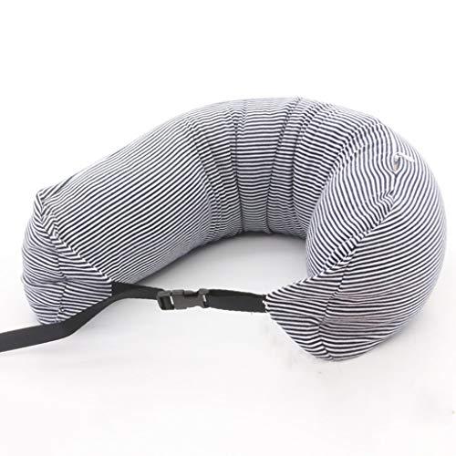 Lounayy Kissen Einfaches Reise U Förmiges Kissen Basic Mode Breathable Bequemes U Form Kissen Mit Waschbarem Abdeckungs Füllen Mit Nanoteilchen Größes U Weißes Streifen Muster - Basic-kissen-abdeckungen