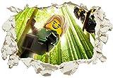 Unified Distribution Lego - Ninjago - NYA & Lloyd - Wandtattoo mit 3D Effekt, Aufkleber für Wände und Türen Größe: 92x61 cm, Stil: Durchbruch