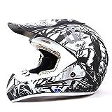 Duebel-802 De La Moto De Motocross Casco * ECE 2205 APROBADO * Ruta Legal Offroad-Helm (Weiß, M(57-58))