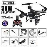 RONSHIN Quadricoptère de Drone LF608 WiFi FPV RC avec caméra 0.3MP / 2.0MP / 5.0MP Obtenez Le Temps de Jeu Plus Long Noir 0.3MP