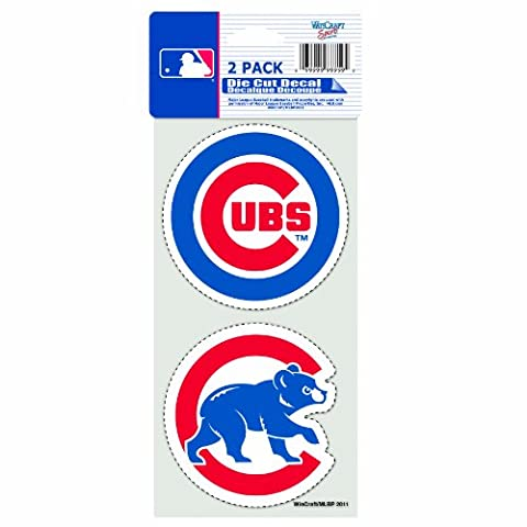 MLB Chicago Cubs 2-Piece Die-Cut Decal, 4