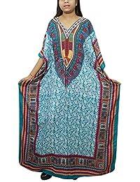 2de6dc5c13 Indiatrendzs Womens Kimono Kaftan Viscose Green Nightwear Free Size
